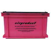 """Airproduct """"Pink Box"""" - Stapelbehälter mit Scharnierdeckel in Pink/ Schwarz"""