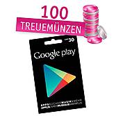 Google Play Guthabenkarte im Wert von 30 CHF