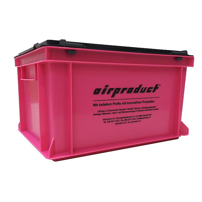 """Airproduct """"Pink Box"""" - Stapelbehälter mit Scharnierdeckel in Pink/, schwarz"""