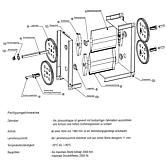 Antriebachse zu JK-A-07 G 15x15x200 mm; verzinkt