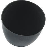 Gipsbecher, hohe Form N aus naturgummi, schwarz