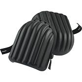 Knieschoner Standard Schalenform; PU-schwarz mit Elastikbänd