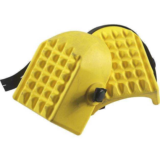 Kniefix-Knieschoner Schalenform, gelb, 1 Elastikb.