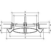 Abluftventil Ø 100 aus Pp inkl. Einbaurahmen