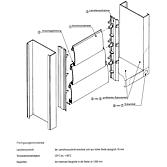 Eckwinkel 20 mm verzinkt für Rahmenprofil zu Über- druckkl.