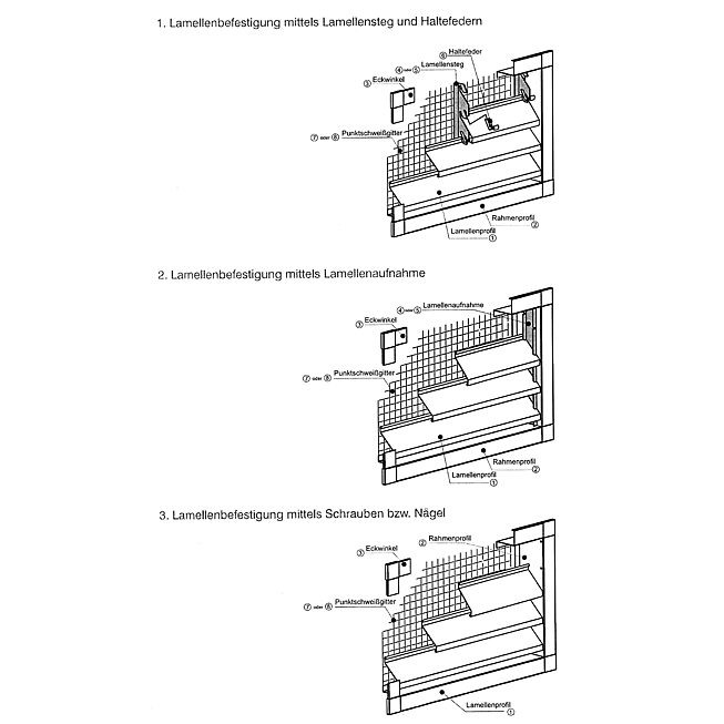 Lamellenprofil zu Wg-Vz-68, verzinkt, ProfilL 5