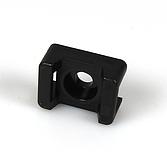 Schraubsockel Typ 2, schwarz für Kabelbinder bis 9.0mm