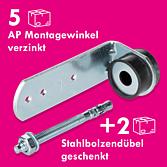 AP Montagewinkel mit Dämmgummi Verzinkt