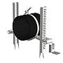 Einlegerohrschelle Starfix Gebogen Verzinkt für Rohrdurchmesser 50 - 125 mm