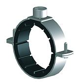 Rohrschelle 2-Teilig mit Schallschutz für Gas- und Wasserleitungsrohre