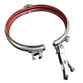 Sikkenschelle mit Seitenstützen, Griff, Inbus-Schraube & eingelegtes PVC Dichtungsprofil für optimale Dichtung
