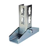 Gelenk-Verbinder 0-180° Locher Nr. 2 Verzinkt für die Wandmontage (Profi Knopf-System)