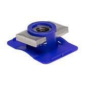 Gewindeträger | Flügelmutter V4A/ PP für alle 41mm Montageschienen (Profi Knopf-System)