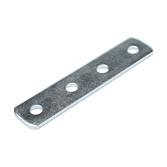 Verbindungsplatte | Flach-Verbinder 4-Loch Verzinkt für alle 41mm Montageschienen (Langloch-System Eco)