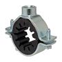 Rohrschelle 2-Teilig Verzinkt mit Schallschutz für Gas- & Wasserleitungsrohre