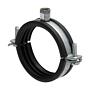 Rohrschelle 2-Teilig Eco Verzinkt mit Schalldämmeinlage & Rastverschluss für Lüftungsrohre