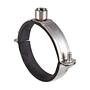 Rohrschelle 2-Teilig Z-Top V4A mit Schallschutz für Lüftungsrohre