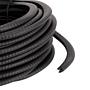 Kantenschutzprofil aus schwarzen Kunststoff zum Schutz vor scharfen Stahlkanten 10m