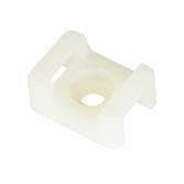 Schraubsockel Typ 2, weiss für Kabelbinder bis 9.0mm