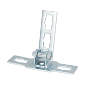 Gelenk-Verbinder 0-90° Locher Nr. 4 Verzinkt (Profi Knopf-System)