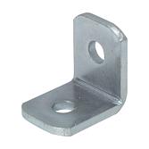 Eckverbinder mit 2-Loch, verzinkt, 47 x 50 x 5 mm, 90°