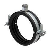Rohrschelle 2-Teilig Eco V2A mit Schalldämmeinlage & Schraubenverschluss für Lüftungsrohre