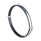Rohrschelle Eco 2-Teilig Verzinkt mit Schalldämmeinlage ohne Rastverschluss für Lüftungsrohre