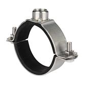 Rohrschelle 2-Teilig AP-Top V4A mit Schallschutz für Lüftungsrohre   Schwere Ausführung