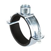 Rohrschelle 2-Teilig Z-Top Verzinkt mit Schallschutz für Lüftungsrohre