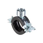 Rohrschelle 2-Teilig mit Schallschutz und Schnellverschluss für Sanitär Heizungs- und Klimarohre