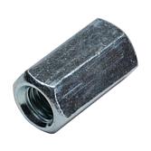 Langmutter | Gewindestangen-Verbinder & Adapter Verzinkt Blau Passiviert