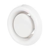Abluftventil Kunststoff OPF mit Rand und Klemmfedern Reinweiss