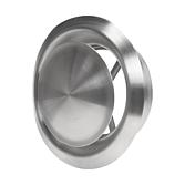 Ab- und Zuluftventil Edelstahl Gebürstet mit einstellbarem Innenkern Montagerahmen und Klemmfeder