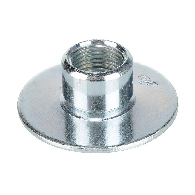 AP Grundplatte rund 1-Loch und abschraubbarer Muffe Verzinkt