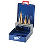 D-3 Stufenbohrer-Set 3-Tlg. Hss, Tin, 4-12, 4-20, 6-30mm