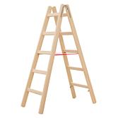 Hymer Holz-Sprossenstehleiter beidseitig begehbar