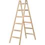 Hymer Holz-Sprossen- Stehleiter 1.80m Sprossenanzahl 2 x 6