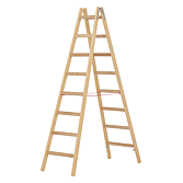 Hymer Holz-Sprossen- Stehleiter 2.32m Sprossenanzahl 2 x 8