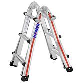 """Hymer Teleskopleiter """"Telestep"""" 4x3 Sprossen Länge 1.85-2.92"""