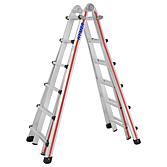 Hymer Teleskopleiter als Stehleiter 3.10m, und als Anlege