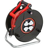 Kabelrolle 33lm/ 3 x 1.5 mit Fi-Schalter und Drehkontakt 4 Sch