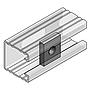 4-Kt-Gewindeplatte M8 V4A 35x30x6 fürProfilschienen aus V4A