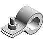 Sicht-Rohrschelle Spannbereich 15mm einteilig