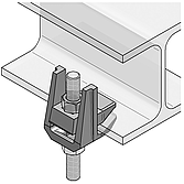 Trägerklammer | Trägerklemm-Befestigung Verzinkt