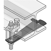 Sicherungslasche Typ 1 für Trägerklammer