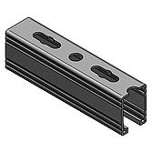 Profilschiene 45/ 60/ 3.0mm Feuer-Bandverzinkt, 6m