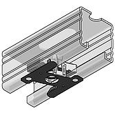 Stex 45 Montageplatte M10 galvanisch, verzinkt