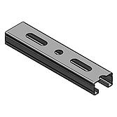 Profilschiene 45/ 26/ 1.5mm, feuerverzinkt, 2lm