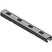 Profilschiene 22/ 16/ 2.0mm, feuerverzinkt, 2lm