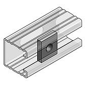 4-Kant-Gewindeplatte 35x30x8 für Profilschienen 36/ 40 M12